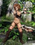 Fantasy Barbarian Outfit G3F